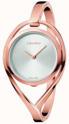 Calvin Klein Lumière pour femme petit bracelet en or rose bracelet en argent K6L2S616