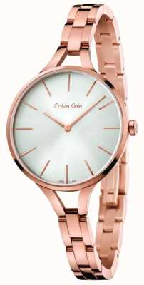 Calvin Klein Bracelet graphique en or rose rose K7E23646