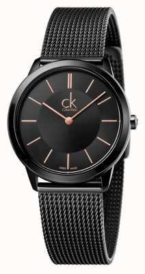 Calvin Klein Womens minimal | bracelet en acier inoxydable noir | K3M22421