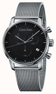 Calvin Klein Compteur de ville pour homme cadran noir en acier inoxydable K2G27121
