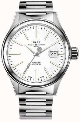 Ball Watch Company Hommes pompier entreprise auto bracelet en acier inoxydable NM2188C-S5J-WH