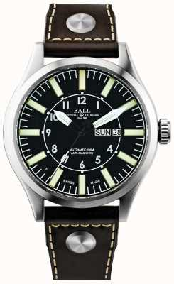 Ball Watch Company Maçon ingénieur masculin ii entreprise aviateur cuir automatique NM1080C-L3-BK
