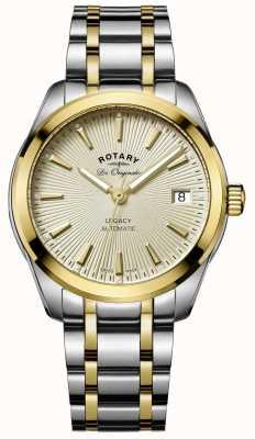 Rotary Legacy Womens automatique | bracelet en acier inoxydable / pvd bicolore LB90166/03