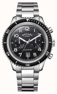 Rotary Hommes océan avenger chronographe cadran noir GB05021/04