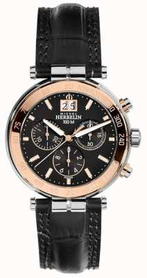 Michel Herbelin Mens Newport rose chronographe 36654/TR14