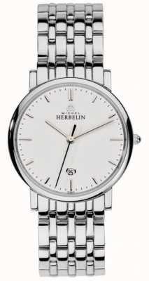 Michel Herbelin Mens en acier inoxydable maille d'argent 12543/B11