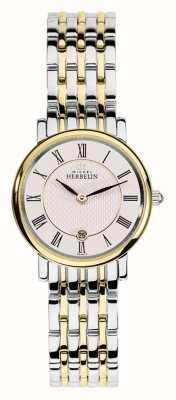 Michel Herbelin Womans deux tons en acier inoxydable bracelet en or, argent 16945/BT01