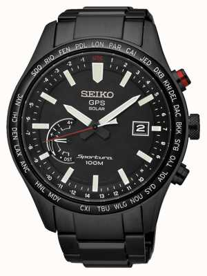 Seiko Sportura gps perpétuel chronographe solaire ion noir plaqué SSF005J1