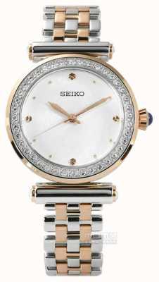 Seiko Womens deux tons or rose SRZ466P1