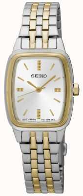 Seiko Womens deux tons tonneau SRZ472P1