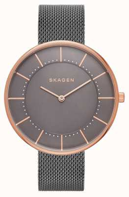 Skagen Womans gitte gris maille or rose SKW2584