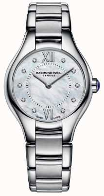 Raymond Weil acier inoxydable Womans 10 diamants cadran en nacre 5124-ST-00985