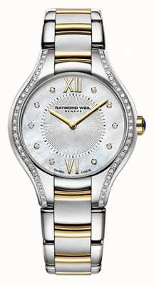 Raymond Weil Womans deux tons noemia 62 diamants de nacre 5124-SPS-00985