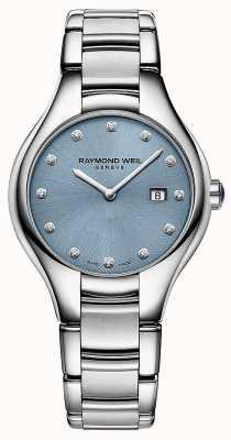 Raymond Weil Womans noemia 12 cadran bleu diamant 5132-ST-50081