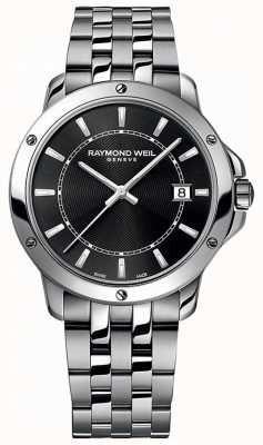 Raymond Weil Cadran homme noir en acier inoxydable avec index tango 5591-ST-20001