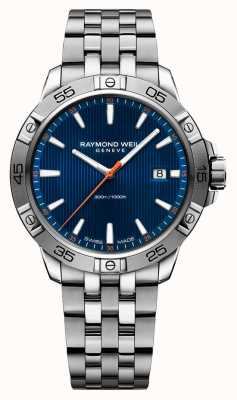 Raymond Weil Compteur d'index bleu pour homme de tango 41mm en acier inoxydable 8160-ST2-50001