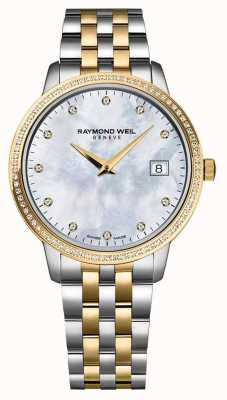 Raymond Weil Montre toccata femme | bracelet en acier inoxydable deux tons / pvd | 5988-STP-97081