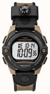 Timex Chronomètre d'expéditeur pour hommes timer d'alarme marron TW4B07800