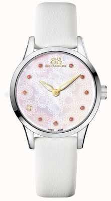 88 Rue du Rhone 32mm Rive dames quartz cuir blanc 87WA153209