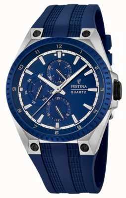 Festina Bracelet en caoutchouc bleu multi-fonctions pour homme F16834/2