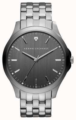 Armani Exchange Mens Gunmetal gris montre en acier inoxydable AX2169
