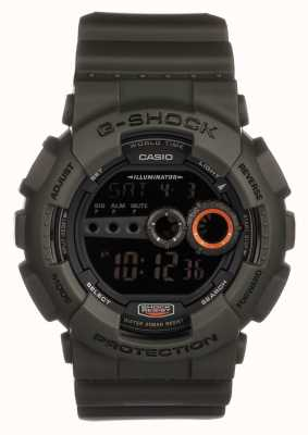 Casio Mens édition limitée g-shock green GD-100MS-3ER