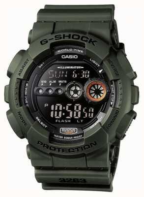 Casio Chronographe Homme G-Shock Vert GD-100MS-3ER