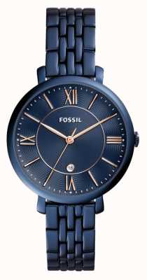 Fossil Ladies jacqueline bleu de montres en acier inoxydable ES4094