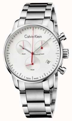 Calvin Klein Mens en acier inoxydable montre la ville de chronographe K2G271Z6