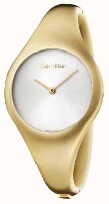 Calvin Klein Mesdames nu petit or de la montre pvd K7G1S516