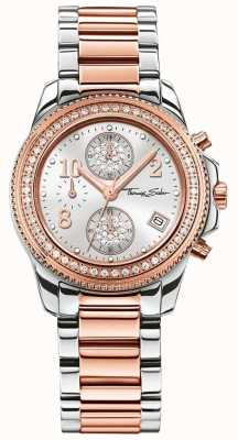 Thomas Sabo Mesdames glam chrono en acier inoxydable / or rose WA0241-272-201-33