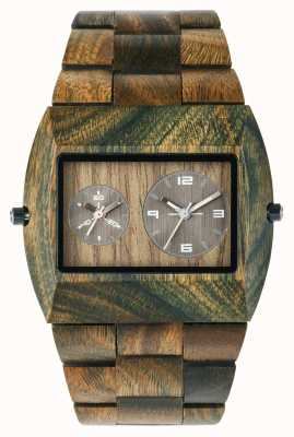 WeWood Mens jupiter rs armée de sangle en bois 70331100