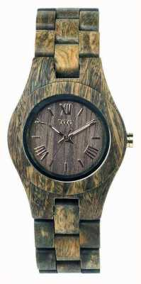 WeWood Womens criss armée sangle en bois 70210100