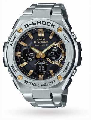 Casio alarme chronographe Mens g acier inox GST-W110D-1A9ER