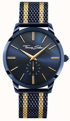 Thomas Sabo Mens esprit rebelle acier bleu rayures or jaune WA0283-286-209-42