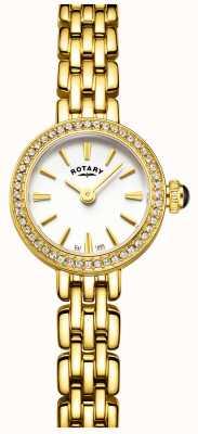 Rotary plaqué or Womans pierre, montre de cocktail LB05053/02