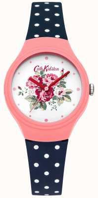 Cath Kidston fleur cadran Mesdames polka bleu montre dot CKL024PU