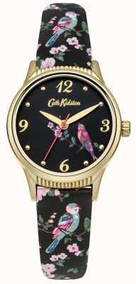 Cath Kidston oiseaux imprimés de base noir graphique CKL013BG