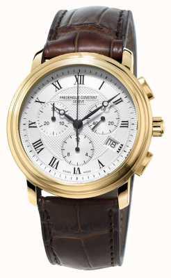 Frederique Constant Mens chronographe classique bracelet brun en cuir FC-292MC4P5