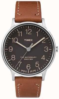 Timex Bracelet marron noir classique pour homme Waterbury TW2P95800