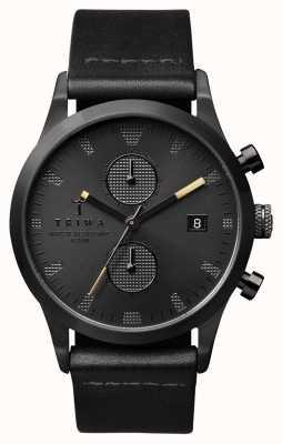 Triwa Homme sorte de cuir noir lansen LCST105-CL010113
