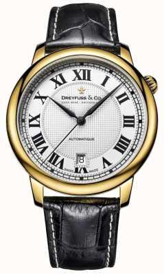 Dreyfuss Mens automatique bracelet en cuir noir DGS00150/01