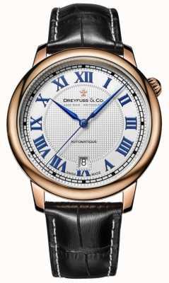 Dreyfuss Mens automatique bracelet en cuir noir DGS00151/01