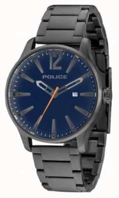 Police Mens dallas gun billette cadran bleu 14764JSU/03M