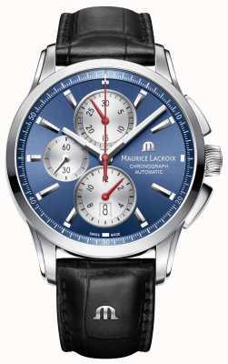 Maurice Lacroix Hommes pontos bleu chronographe automatique PT6388-SS001-430-1