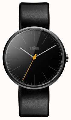 Braun Les hommes amincissent bracelet en cuir noir BN0172BKBKG
