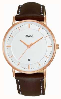 Pulsar Montre en cuir marron pour homme PG8258X1