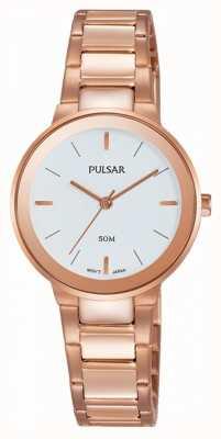 Pulsar Montre rose aux dames montée en or PH8290X1