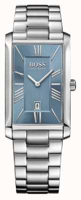 Hugo Boss Mens cadran bleu bracelet amiral en acier inoxydable 1513438