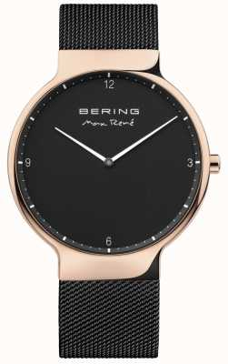 Bering Mens max rené sangle à maille interchangeable noir 15540-262